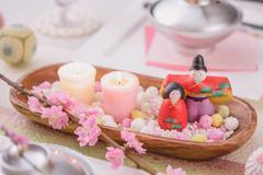 Japanese Hina dolls Stock Photos