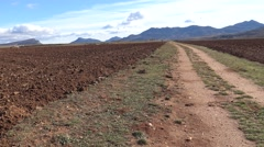 4K, A beautiful hill of agriculture countryside in rural spanish landscape -Dan Stock Footage