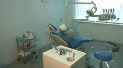 Dental consulting room. Horizontal pan. Stock Footage