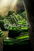Wine archive, Hort Winery, Znojmo - Dobsice, Czech Republic Stock Photos