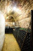 Wine archive, wine cellar in Jaroslavice, Czech Republic Stock Photos