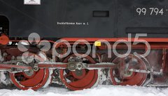 Detail of steam locomotive, Oberwiesenthal - Cranzhal (Fichtelbergbahn), Germany Stock Photos