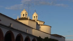 4K Saint Maria de los Remedios Shrine, Sanctuary of Jerez de los Caballeros-Dan Stock Footage