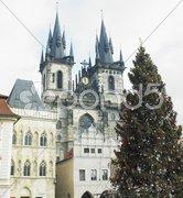 Tynsky church, Prague, Czech Republic Stock Photos