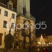 Horloge, Old Town Square, Prague, Czech Republic Stock Photos