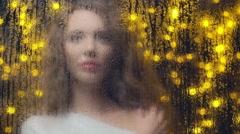 Love Letter on Steamed Window Stock Footage