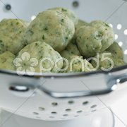 Herb dumplings Stock Photos