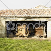 Old agriculture machines, France Stock Photos