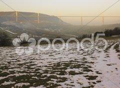 The highest bridge in the world, Millau, France Stock Photos