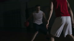 Basketball Dribbling and Shooting Stock Footage