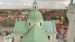 Beautiful drone footage of an old orthodox church, Grodno, Belarus Stock Footage