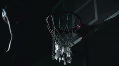 Perfect Basketball Shot Stock Footage