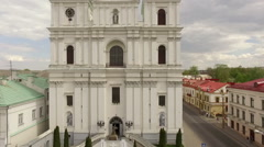 Aerial footage of an orthodox church, Grodno, Belarus Stock Footage