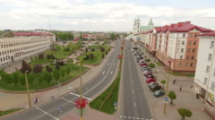 Footage of an old european town, Grodno, Belarus Stock Footage