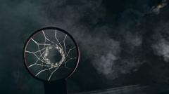 Winning Basketball Game Stock Footage