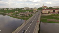 Amazing footage of an old european town, Grodno, Belarus Stock Footage