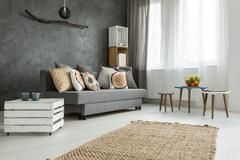 Cushions passel at your home Stock Photos