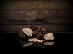 Black autumn truffles Stock Photos
