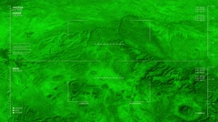 Night vision flyover of the Northern Coahuila section of the Rio Grande river Stock Footage