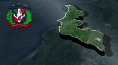 Espaillat with Coat Of Arms Animation Map Stock Footage
