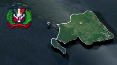 La Altagracia with Coat Of Arms Animation Map Stock Footage