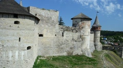 Kamenetz-Podolsk fortress, Ukraine. Stock Footage
