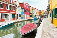 City of Burano, Venice, Italy Stock Photos