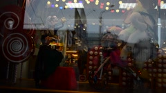 Show-window of shop Stock Footage