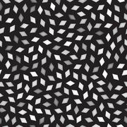 Vector Seamless Greyscale Rhombus Jumble Pattern Stock Illustration