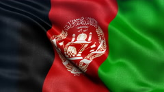 Afghanistan flag seamless loop Stock Footage