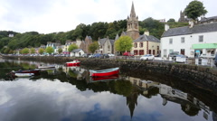 Tobermory harbour, Isle of Mull, Scotland 3rd September 2016 Stock Footage