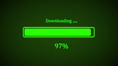 Downloading process animation with percentage. HD 1080. Stock Footage
