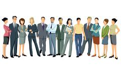 Business people group Stock Illustration