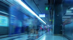 Hong Kong. Metro. Time Lapse UHD Stock Footage