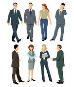 Persons and employees Stock Illustration