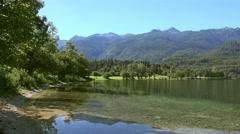 Bohinj lake in Slovenia Stock Footage