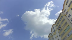 The sky and clouds, shooting in the city Stock Footage