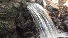 Small waterfall with audio of running water Stock Footage