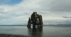 Hvitserkur time-lapse Stock Footage