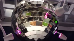 Party Disco ball with colorful lights Stock Footage