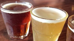 Different beer types Stock Footage