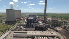 Aerial view of thermal power plant Stock Footage