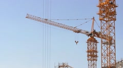Crane at Construction Site Stock Footage