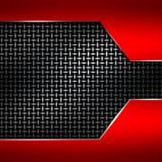 Red metal frame on black metallic mesh. Stock Illustration