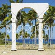 Memorial of Christopher Columbus''s landing, Bahia de Bariay, Holguin Province,  Stock Photos