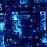 Blue rusty fix wall. grunge metal background. Stock Illustration