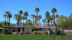 Establishing shot of a condo complex in Palm Springs, California. Stock Footage