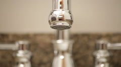 Water faucet dripping, extreme close up Arkistovideo