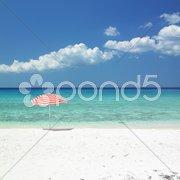 Sunshade, Maria la Gorda Beach, Pinar del Rio Province, Cuba Stock Photos