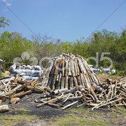 Charcoal pile, Pinar del Rio Province, Cuba Stock Photos